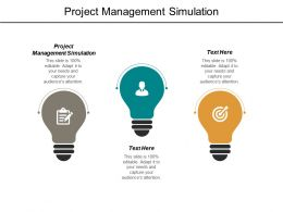 Project Management Simulation Ppt Powerpoint Presentation Outline Display Cpb