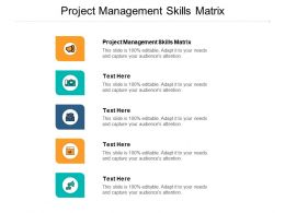 Project Management Skills Matrix Ppt Powerpoint Presentation Slides Designs Download Cpb