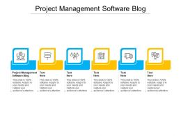 Project Management Software Blog Ppt Powerpoint Presentation Gallery Grid Cpb
