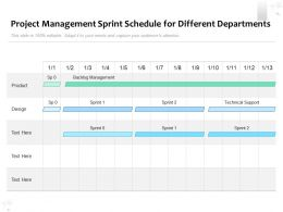 Project Management Sprint Schedule For Different Departments