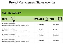 Project Management Status Agenda Powerpoint Ideas