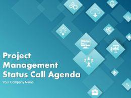 Project Management Status Call Agenda PowerPoint Presentation Slides