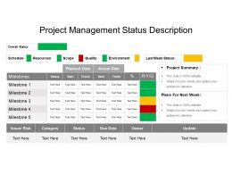 Project Management Status Description Powerpoint Slide Rules