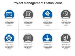 Project Management Status Icons Powerpoint Slide Clipart