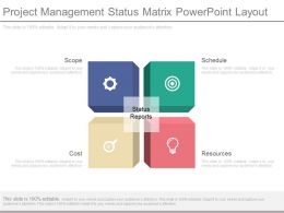 Project Management Status Matrix Powerpoint Layout