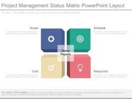 Project Management Status Matrix Powerpoint Layout
