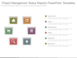 Project Management Status Reports Powerpoint Templates