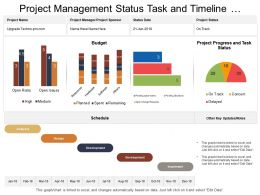 Project Management Status Task And Timeline Dashboard