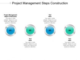 Project Management Steps Construction Ppt Powerpoint Presentation Gallery Picture Cpb