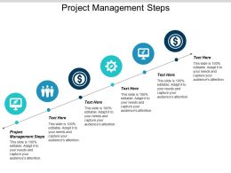 Project Management Steps Ppt Powerpoint Presentation Icon Images Cpb
