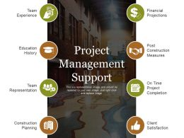 Project Management Support Powerpoint Slides