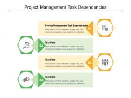 Project Management Task Dependencies Ppt Powerpoint Presentation Pictures Styles Cpb