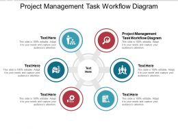 Project Management Task Workflow Diagram Ppt Powerpoint Presentation Slides Cpb