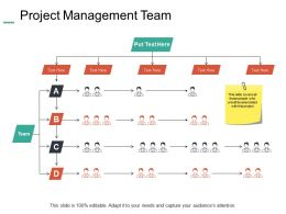 Project Management Team Introduction Ppt Powerpoint Presentation Layouts Gridlines