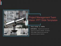Project Management Team Vision Ppt Slide Templates