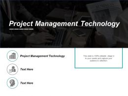 Project Management Technology Ppt Powerpoint Presentation Icon Samples Cpb