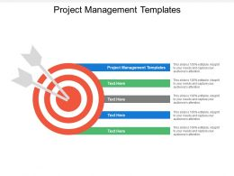 Project Management Templates Ppt Powerpoint Presentation Icon Designs Download Cpb