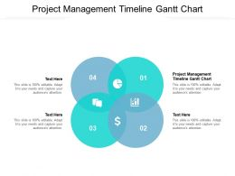 Project Management Timeline Gantt Chart Ppt Powerpoint Presentation Pictures Cpb