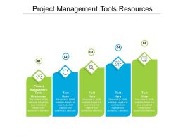 Project Management Tools Resources Ppt Powerpoint Presentation Icon Outline Cpb