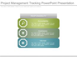 Project Management Tracking Powerpoint Presentation