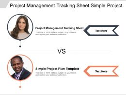 Project Management Tracking Sheet Simple Project Plan Template Cpb