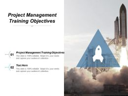 Project Management Training Objectives Ppt Powerpoint Presentation Icon Show Cpb