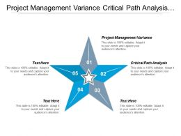 Project Management Variance Critical Path Analysis Online Marketing Cpb