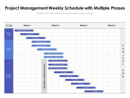 Project Management Weekly Schedule With Multiple Phases