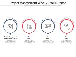 Project Management Weekly Status Report Ppt Powerpoint Presentation Pictures Gallery Cpb