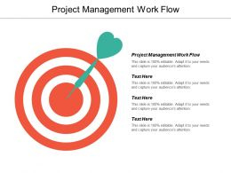 Project Management Work Flow Ppt Powerpoint Presentation Icon Information Cpb