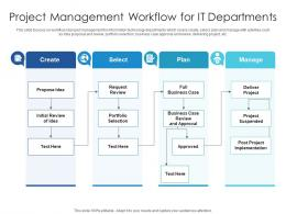 Project Management Workflow For IT Departments