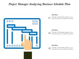 Project Manager Analyzing Business Schedule Plan