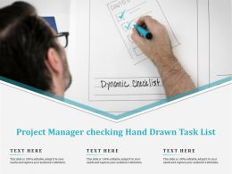 Project Manager Checking Hand Drawn Task List
