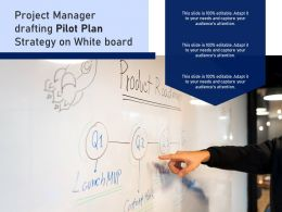 Project Manager Drafting Pilot Plan Strategy On White Board