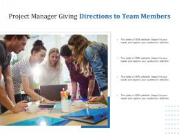 Project Manager Giving Directions To Team Members