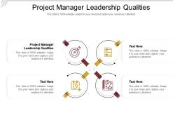 Project Manager Leadership Qualities Ppt Powerpoint Presentation Pictures Infographic Cpb