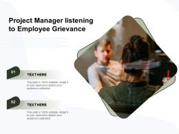 Project Manager Listening To Employee Grievance