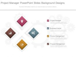 Project Manager Powerpoint Slides Background Designs