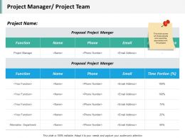 Project Manager Project Team Ppt Inspiration Styles