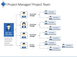 Project Manager Project Team Ppt Slide Show