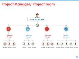 Project Manager Project Team Ppt Summary Example