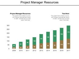 Project Manager Resources Ppt Powerpoint Presentation File Display Cpb