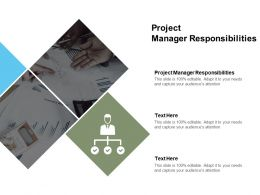 Project Manager Responsibilities Ppt Powerpoint Presentation Ideas Cpb