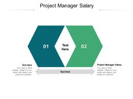 Project Manager Salary Ppt Powerpoint Presentation Portfolio Gridlines Cpb