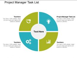 Project Manager Task List Ppt Powerpoint Presentation Icon Templates Cpb