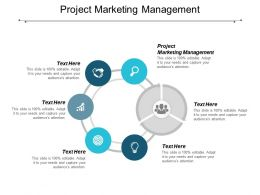 Project Marketing Management Ppt Powerpoint Presentation Show Design Inspiration Cpb