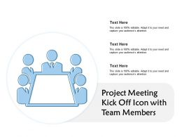 Project Meeting Kick Off Icon With Team Members