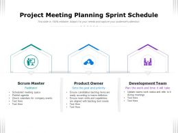 Project Meeting Planning Sprint Schedule