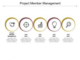Project Member Management Ppt Powerpoint Presentation Outline Show Cpb
