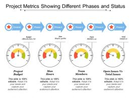 Project Metrics Showing Different Phases And Status
